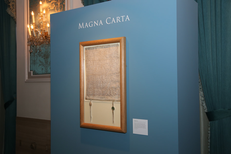 The Magna Carta on display