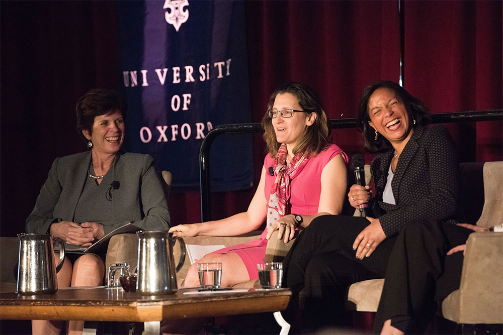 Professor Louise Richardson, The Hon Chrystia Freeland and Ambassador Susan Rice