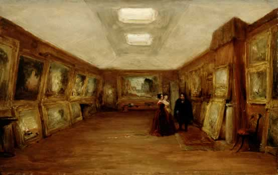 WA1881.348 George Jones, Interior of Turner's Gallery: the Artist Showing his Works. Image © Ashmolean Museum, University of Oxford