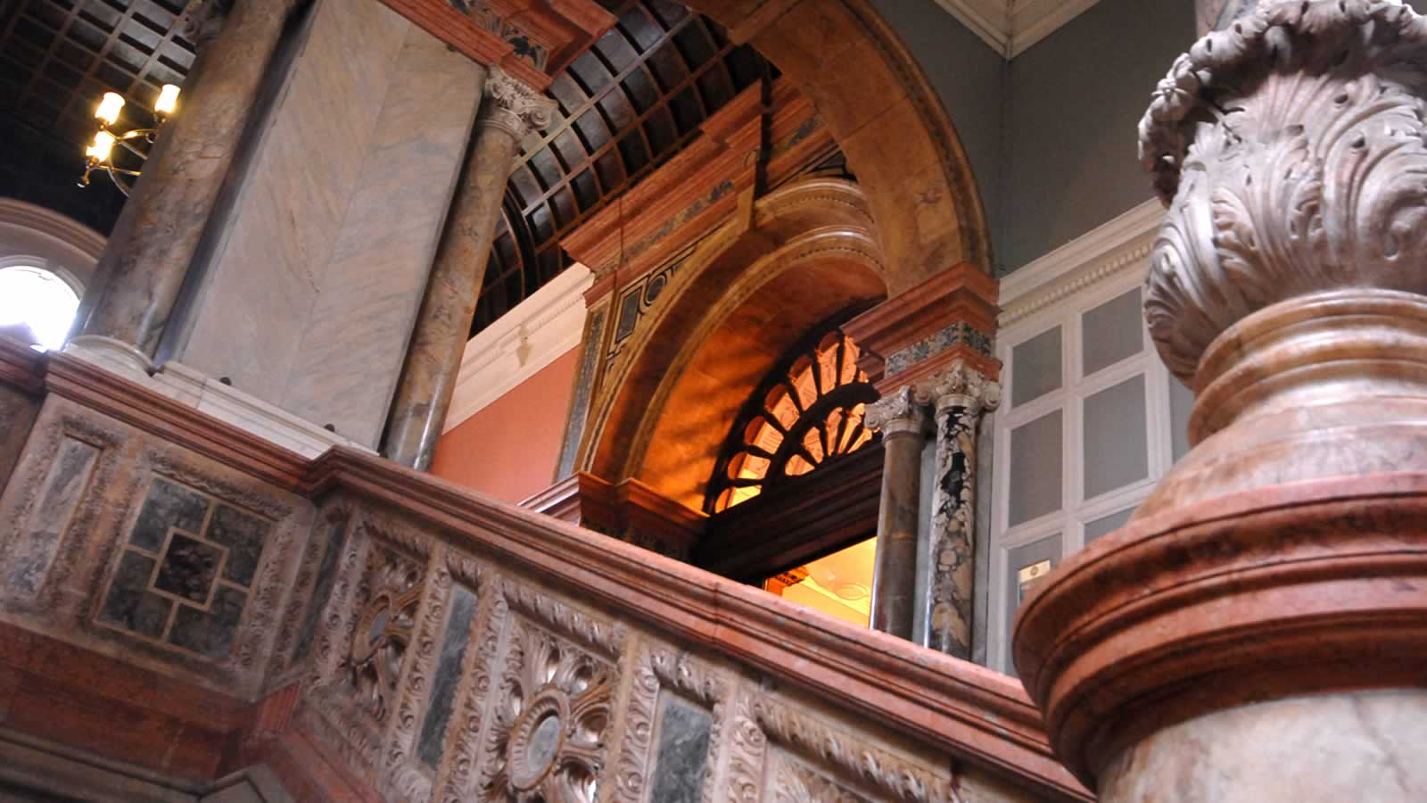 Ornated staircase within the Examination Schools, Oxford