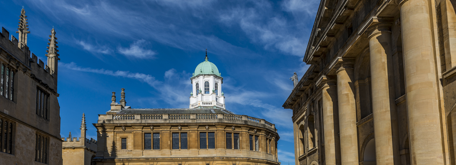 The Sheldonian Theatre and the Clarendon Building, Oxford
