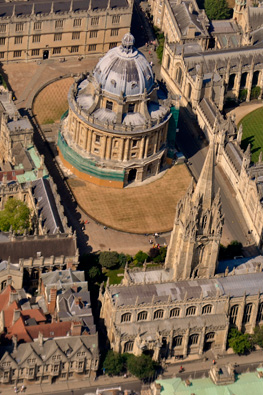 Overhead view of Radcliffe Camera