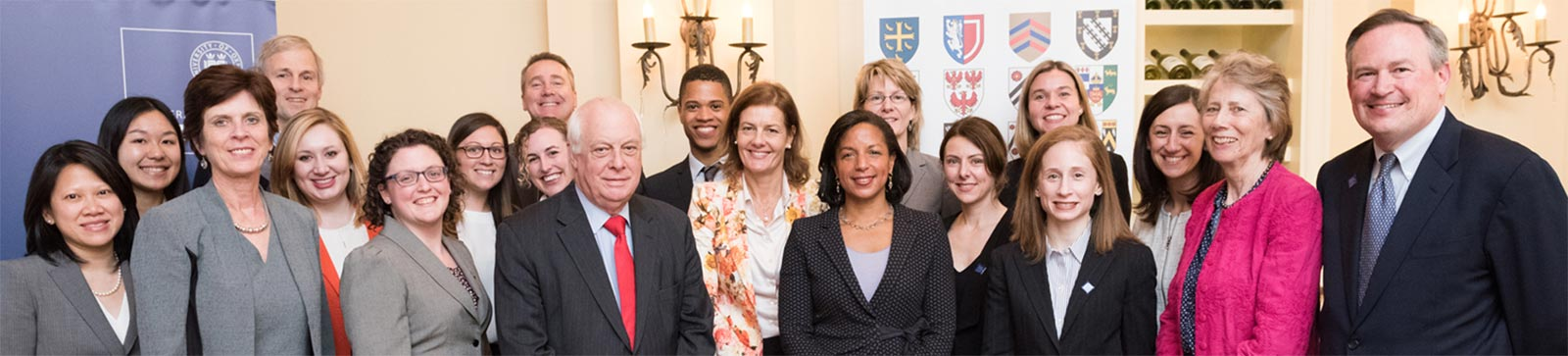 Professor Louise Richardson with the North American Office team
